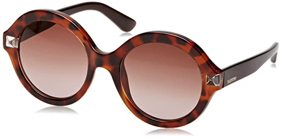 Valentino Damen Sonnenbrille Eye, Braun (Tartarugato), 54