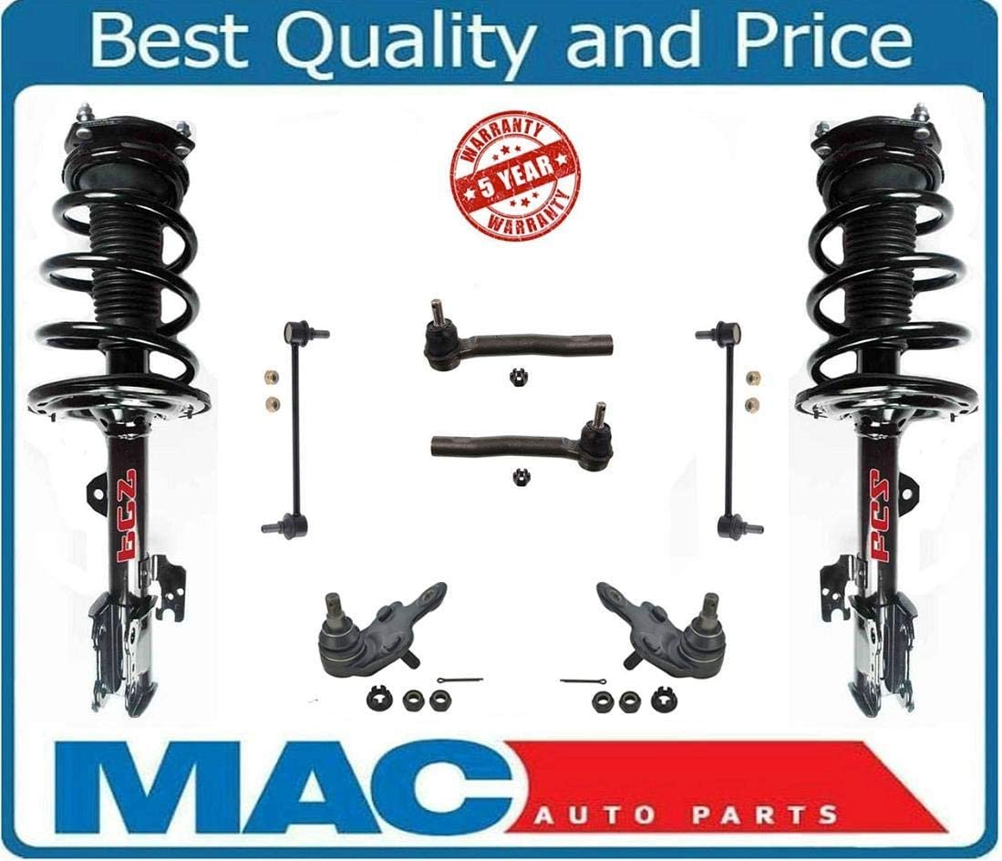 Front Complete Struts /& Coil Spring Assemblies Fits 2009-2014 Toyota Venza Pair