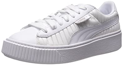 10965b84e91 PUMA Women s Basket Platform En Pointe Wn Sneaker White