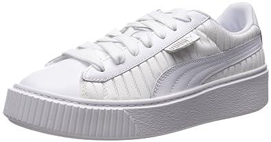 8c0354f5436726 PUMA Women s Basket Platform En Pointe Wn Sneaker White
