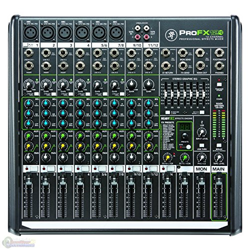 - Mackie PROFX12V2 12-Channel Compact Mixer with USB and Effects