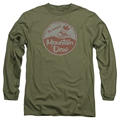 7fe5c8dc6 Image Unavailable. Image not available for. Color: Mountain Dew Vintage Cap  Unisex Adult Long-Sleeve T Shirt For Men ...