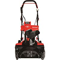 Snow Joe iON18SB-PRO-RED-RM Cordless Single Stage Snow Blower | 18-Inch | 5 Ah Battery | Brushless (Renewed)