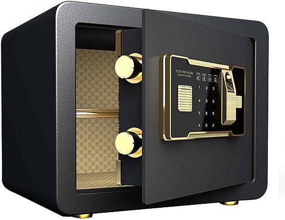 DBSCD Cajas Fuertes para el Arma del hogar Estructura Segura Gabinete de Llave Perno de Bloqueo de 32 mm + Sistema antirrobo Caja Fuerte de 35 * 25 * 25 cm (Negro): Amazon.es: Hogar