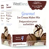 West Bend IC13892 Ice Cream Mix, Vanilla/Chocolate Combo Pack, Multicolor