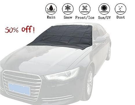 Parabrisas cubierta de nieve, omuoffroad coche cubierta de nieve nieve hielo Frost Auto Cubierta impermeable