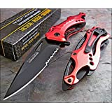 TAC-FORCE Assisted Opening RED FIRE FIGHTER Bottle Opener Glass Breaker Knife