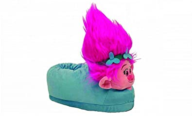 cca63a251241 Image Unavailable. Image not available for. Colour  Happy Feet 2114-2 - DreamWorks  Trolls - Poppy Slippers - Medium Mens and Womens