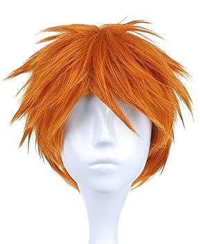 CoolChange Peluca de Ichigo Kurosaki de Bleach, Naranja