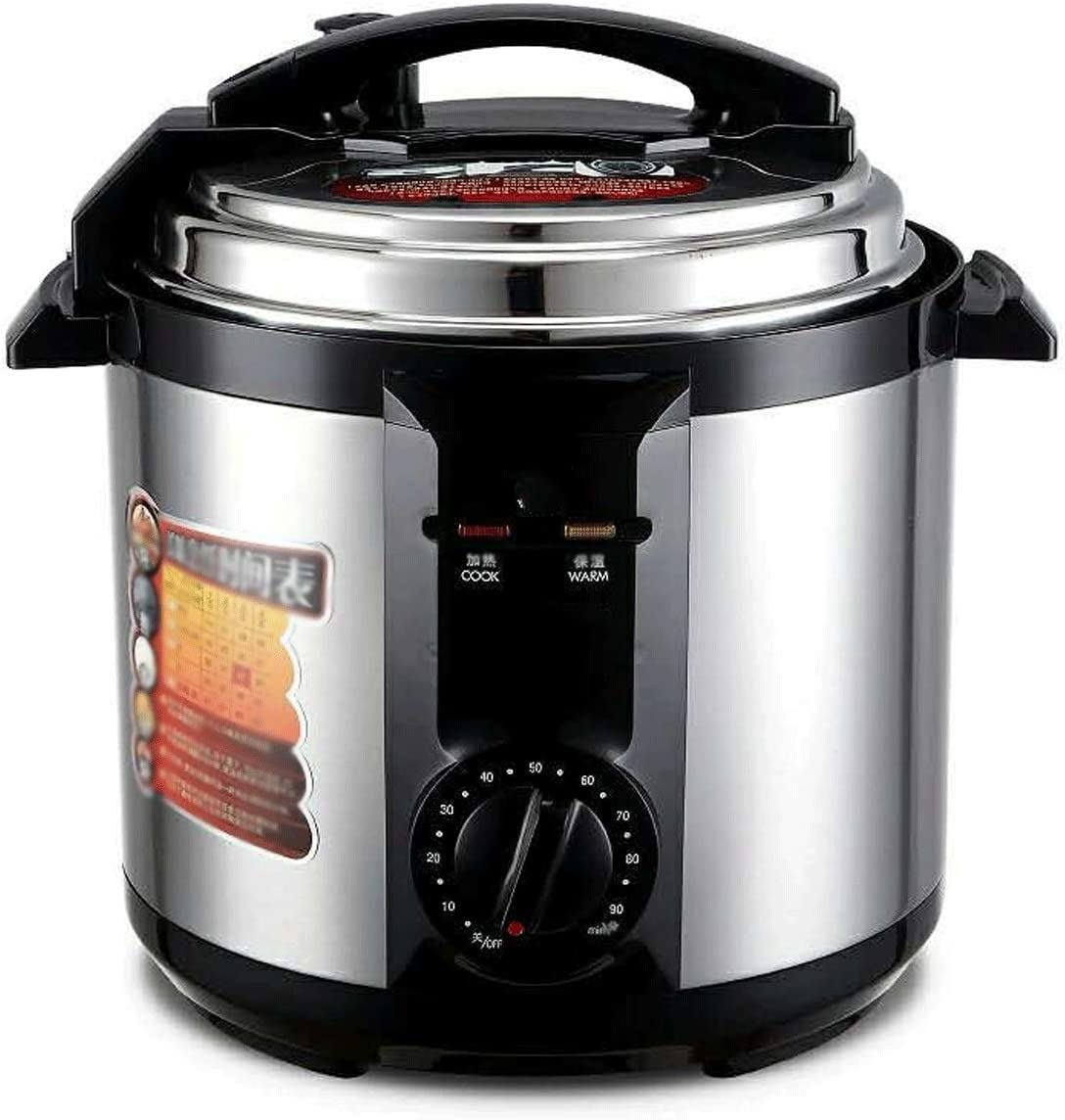 Z-COLOR Multi-Purpose Electric Steamer, Pressure Cooker, 6 Litre, 1000 W, Brushed Stainless Steel, Smart Appointment Cooking Soup Pot