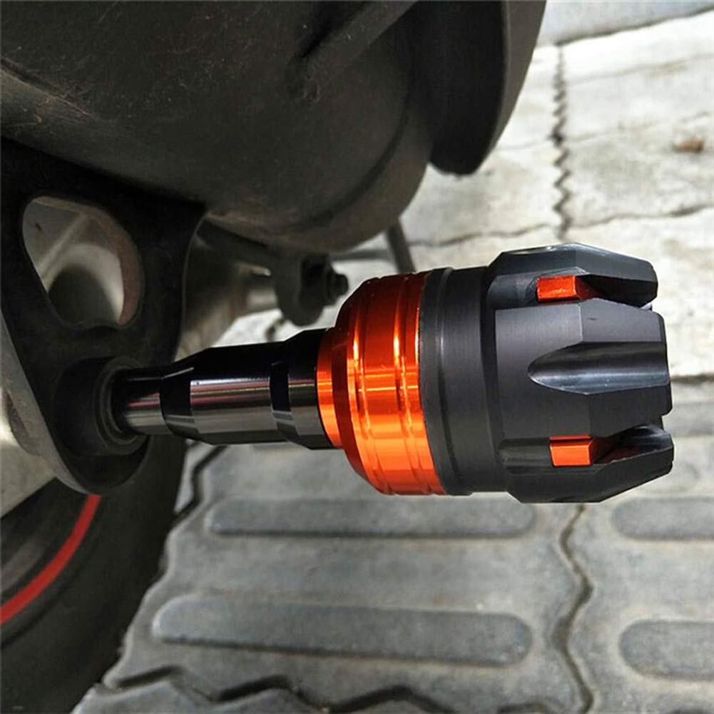 Protection Anti-Choc 1pc Silver omufipw Patins universels pour Cadre de Moto