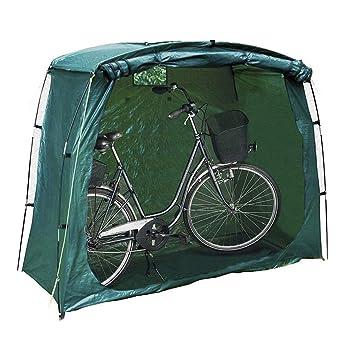 LKJCZ Verde Bicicleta Bicicleta Almacenamiento Protector Cubierta Tienda cobertizo jardín Refugio al Aire Libre: Amazon.es: Deportes y aire libre