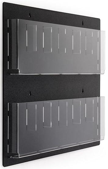 Amazon.com : Displays2go Wall Mounted Literature Rack, 12 Pockets ...