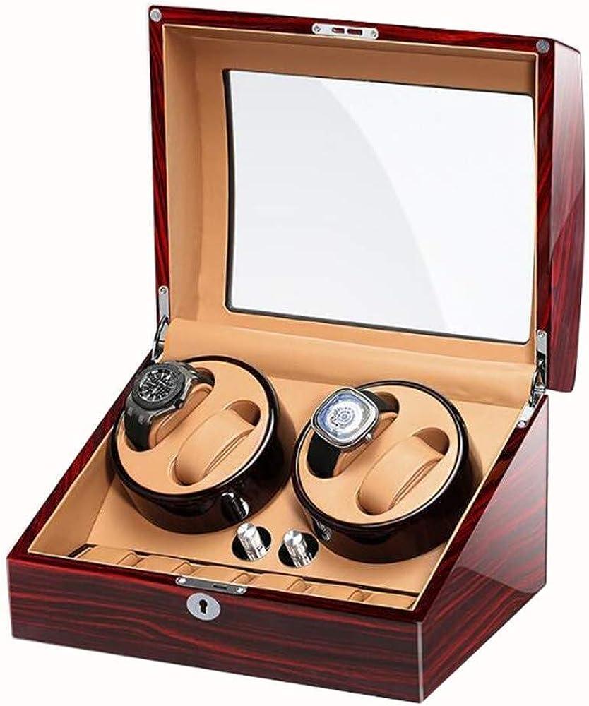 Piano Paint Watch Winder, Automático 4 + 6 Watch Winderand Relojes Caja de Vitrina de Almacenamiento con silencioso Motor Mabuchi (Color : Brown): Amazon.es: Relojes