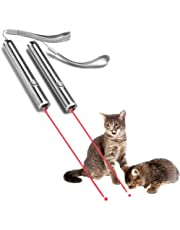 YSAGi Funny Pet Cat Catch Interactive Light Toy, 2 in 1 Chaser Toy with Laser Dot and Flashlight to Scratching Training Tool for Cat or Dog (2 Pack)