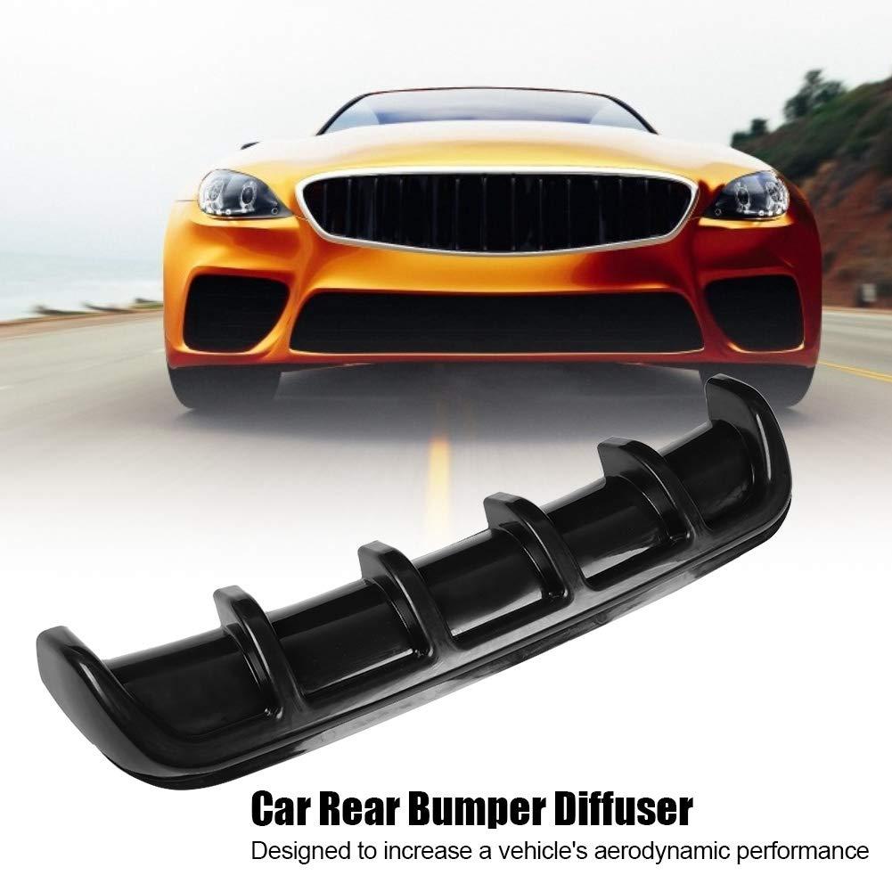 Universal Car Bumper Diffuser Fin Spoiler Diffuser Black Black Aramox Rear Bumper Diffuser