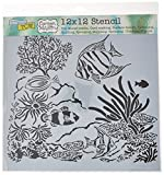 CRAFTERS WORKSHOP TCW611 Template, 12'' x 12'', Aquarium, White