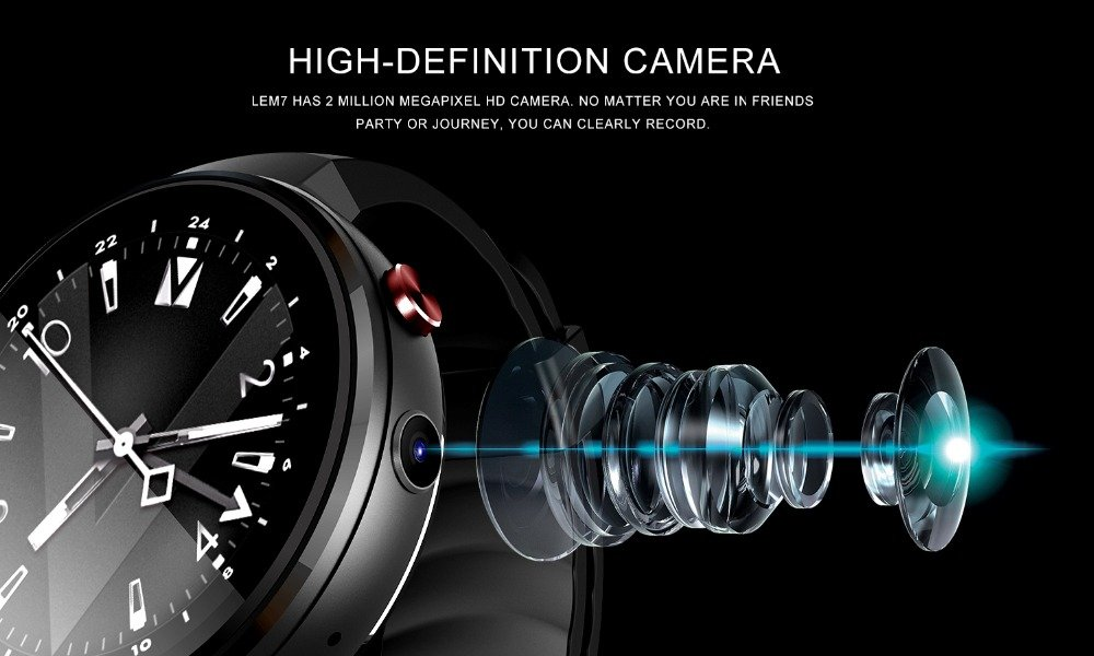 LEMFO LEM7 4 G Smart Watch Android 7.0 con Sim2 MP Cámara GPS WiFi ...