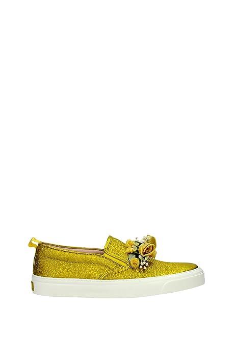 414990DKT407362 Gucci Zapatillas Mujer Piel Amarillo: Amazon.es: Zapatos y complementos