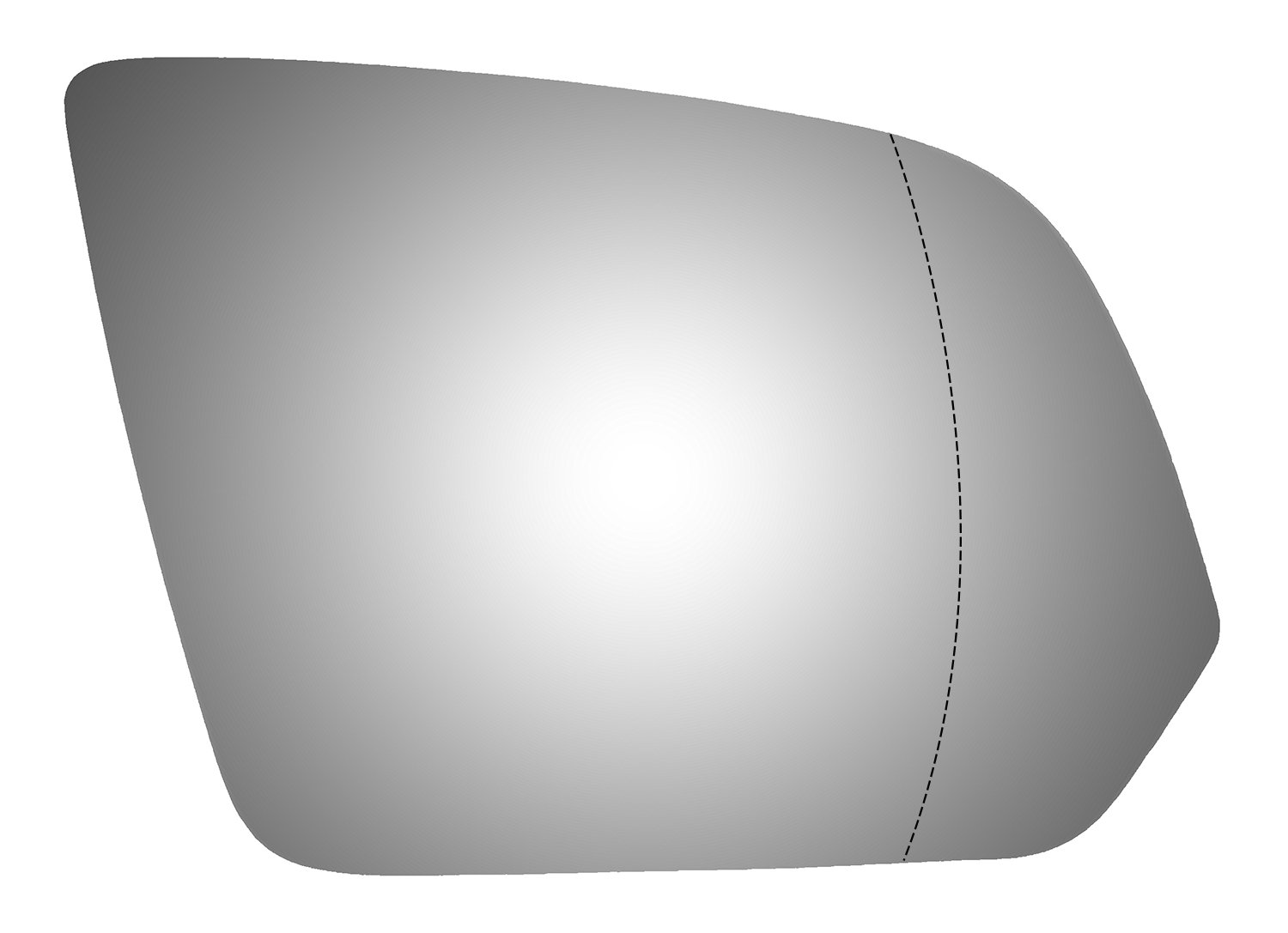 Burco 5731W Right Side Replacement Mirror Glass for 16-17 Mercedes-Benz Metris