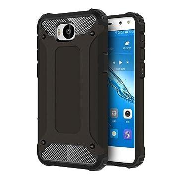 FLHTZS Funda Huawei Nova Young Mya-L11 Carcasa Caja de teléfono móvil, combinación TPU + PC, Hermosa Mano de Obra(Negro)