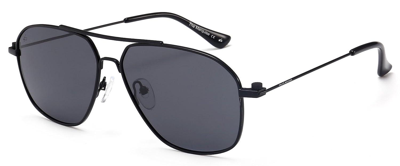 "6c86f6ec09 Amazon.com  PRIVÉ REVAUX ""The Marquise"" Handcrafted Designer Polarized  Aviator Sunglasses For Men   Women  Clothing"