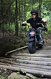 Monster Moto Classic Mini Bike -Assembled in the USA- MM-B80-BR - Black/Red