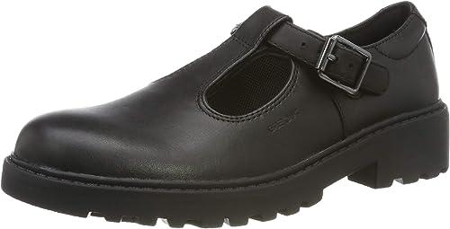 Geox Girls J Casey E School Uniform Shoe, Black, 41 EU
