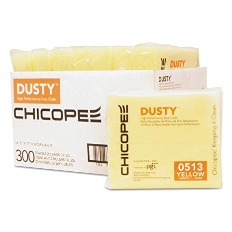 Amazon.com: Disposable Dust Cloths, 14 5/8 x 17, Yellow ...