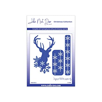John Next Door Christmas Dies.Crafts Too John Next Door Christmas Dies Christmas Deer 3pcs
