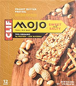 Clif Mojo Bar, Peanut Butter Pretzel, Net Wt. 19.08 Oz. 12 Count (Pack of 2)