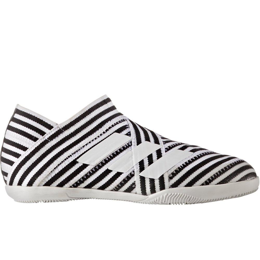 adidas Kids' Nemeziz 17+ 360AGILITY IN Junior Indoor Soccer Shoes (Sz. 5.5) White, Black by adidas