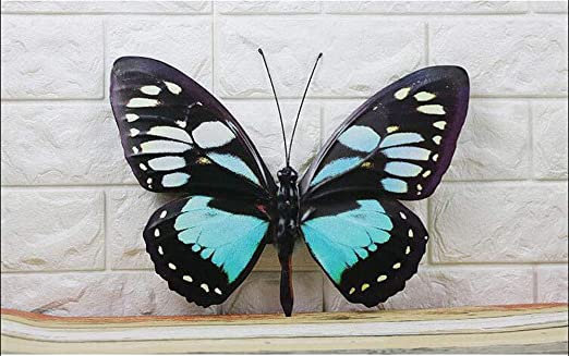 Resin Colorful Butterfly Wall Decor Fence Hanger Wall Art Yard Lawn GardenDecor