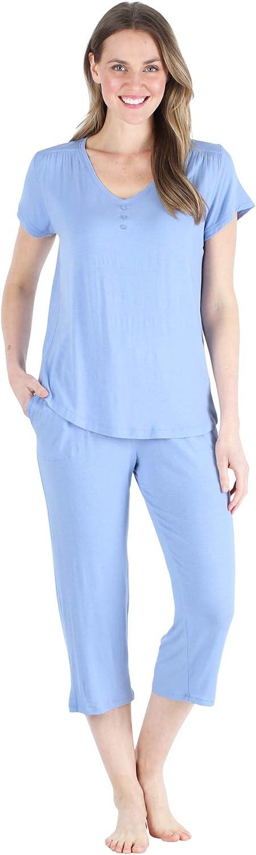 Pajama Heaven Women's Bamboo Jersey Pajama Sleepwear