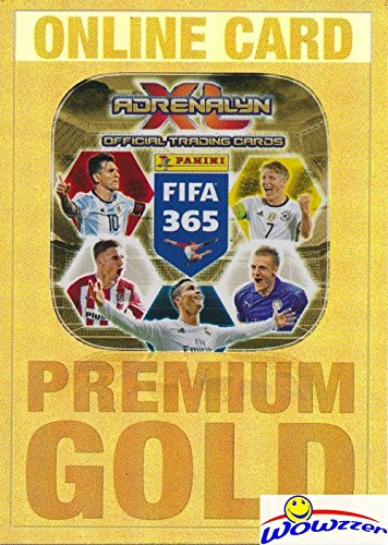 2017 Panini Adrenalyn XL FIFA 365 EXCLUSIVE PREMIUM GOLD Limited Edition ONLINE CARD Never Used! Awesome Special Card Imported from Europe! Shipped in Ultra Pro Top Loader to Protect it! - 365 Online Shop