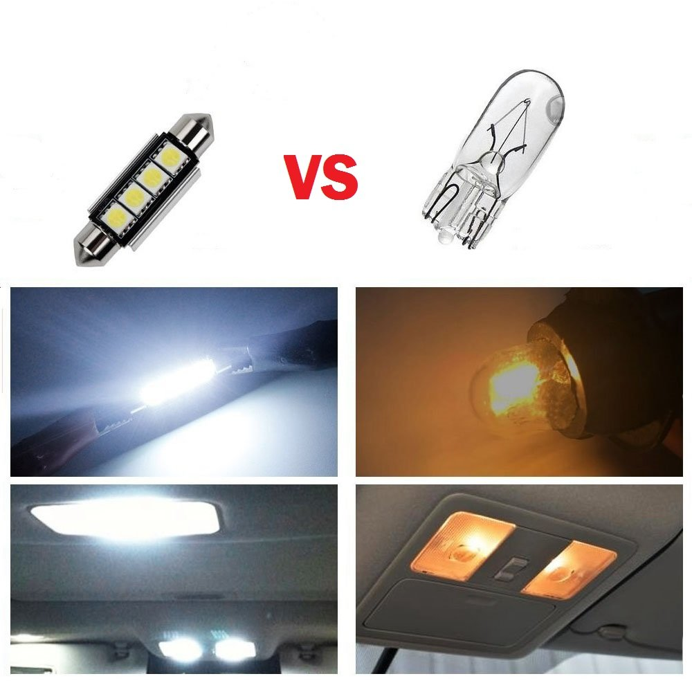 Vanity Mirror Blue Map RunQiao 10 Pcs LED Canbus Error Free Interior SMD LED Light Bulb for Car Dome Boot Cargo Box