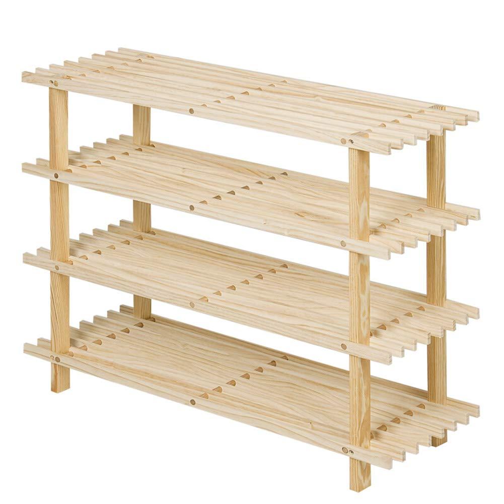 JIANFEI Shoe Shelf Rack Shelf Detachable Waterproof Multifunction Wear Resistant Pine (Color : Log, Size : 70x25x56cm)