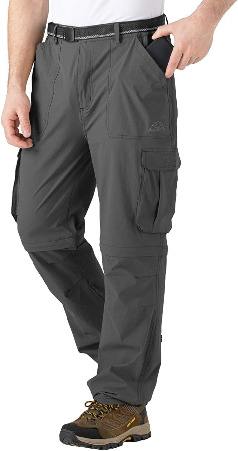 TBMPOY Men's Waterproof Hiking Pants Lightweight Fishing Military Outdoor Travel Pants with Pockets