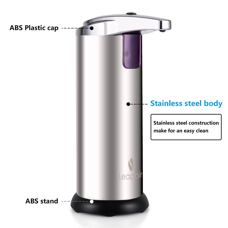 leapair sensor soap dispenser for bathroom kitchen countertops