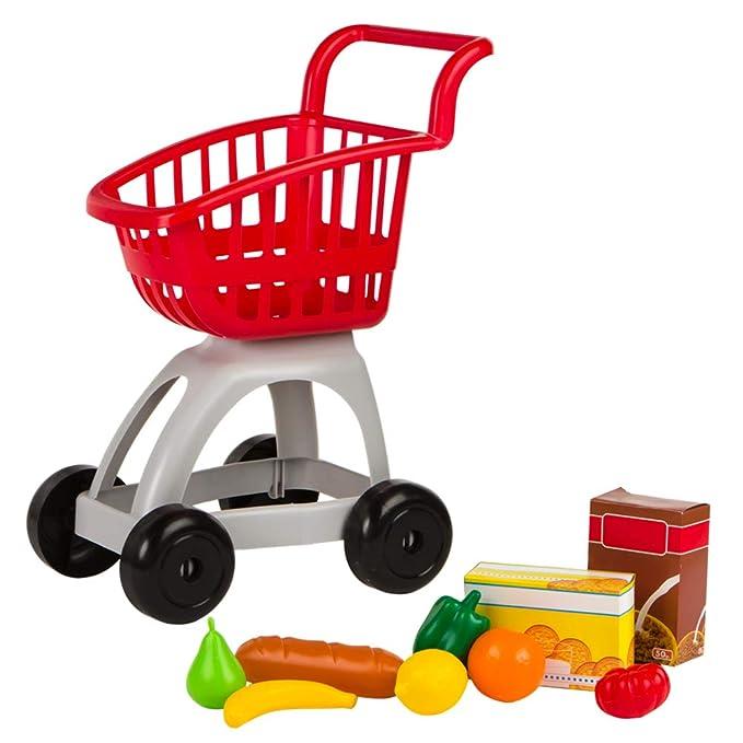 ColorBaby - Carrito supermercado con accesorios, Rojo My Home ...