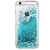 iPhone 6 case, iPhone 6s case Quicksand Glitter Bling TPU case, Flowing Liquid Sparkle case for iPhone 6 6s 4.7 (Turquoise)'