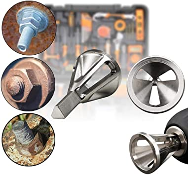 QYNDFX 1//2//5Pcs Deburring External Chamfer Tool Stainless Steel Silver Remove Burr Drill Bit For Various Electric Drill Burr Remover