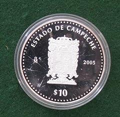 2005 $10 Mexico Silver Proof - Estado De Campeche