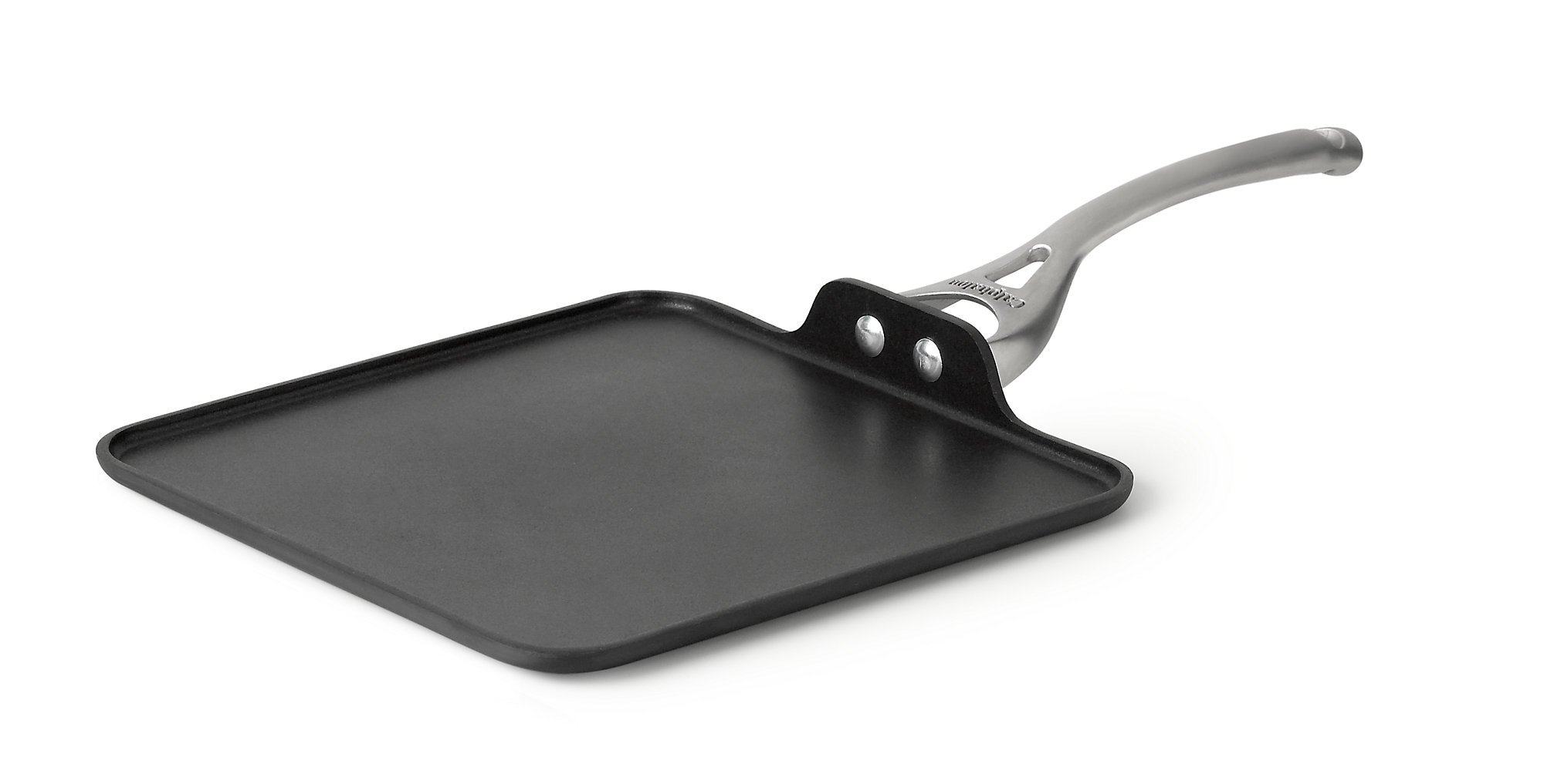 Calphalon Contemporary Hard-Anodized Aluminum Nonstick Cookware, Square Griddle Pan, 11-inch, Black