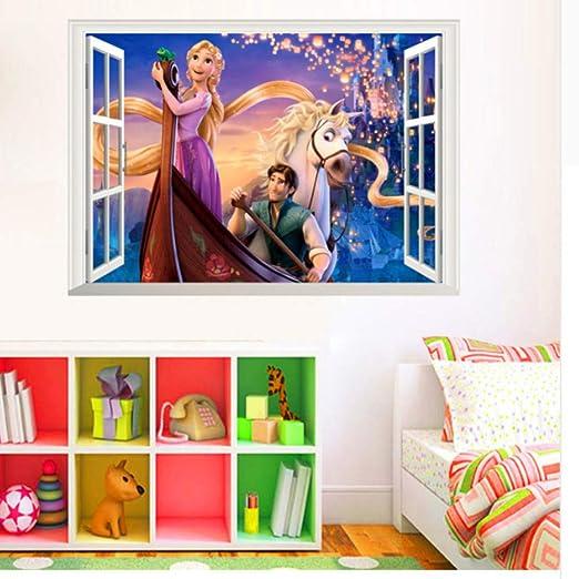 Xqi wangpu Dibujos Animados Rapunzel Etiqueta de La Pared ...