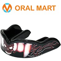 Oral Mart Custom Sports Mouth Guard (Vampire, Fang, Picasso, Double, Invisible Ninja) - Custom Design Sports Mouthpiece for Boxing, Sparring, Kickboxing, Lacrosse, Basketball, BJJ, MMA, UFC (with Vented Case)