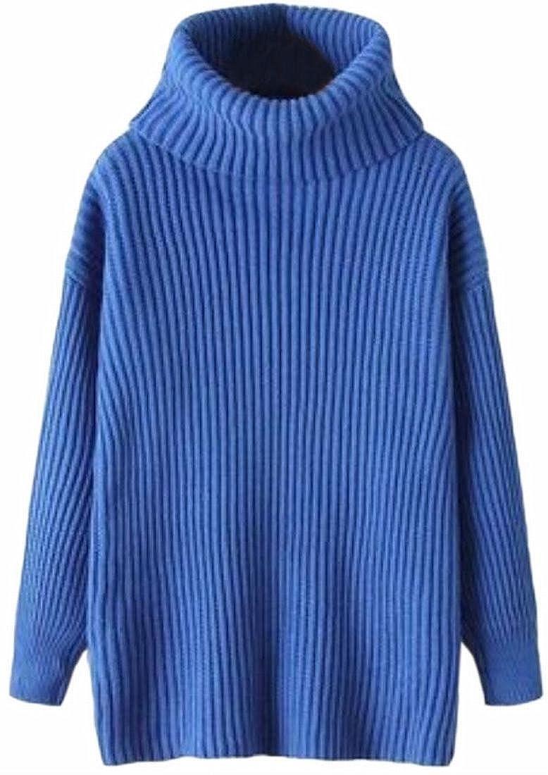 Jaycargogo Womens Lightweight Long Sleeve Turtle Neck Knit Pullover Sweaters