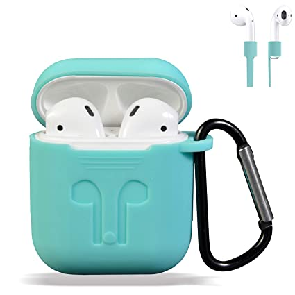 best sneakers 60b9e 46371 AirPods Case Cover, Silicone Protective Case and Skin for Airpods Charging  Case with Airpods Anti-Lost Strap/Airpods Hooks, [Buy 1 Get 5 Accessories]  ...