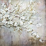 Portfolio Canvas Décor 35 by 35-Inch Printed Wall Art Painting, Large, White Elegance by Carson