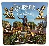 Disney Pin - WDW - Annual Passholder - Gold Statues 6 pin set